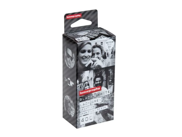 Lomography Svarvit film Lady Grey 400 135-36 3-pack