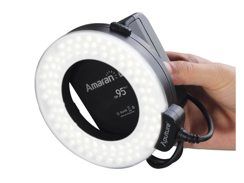 Aputure Ringblixt LED Amaran Halo HN100 till Nikon