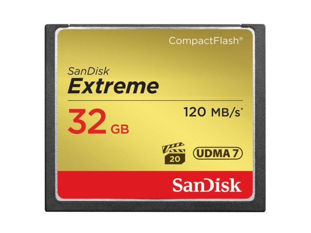 Sandisk Minneskort Compact Flash 32GB Extreme 120MB/s
