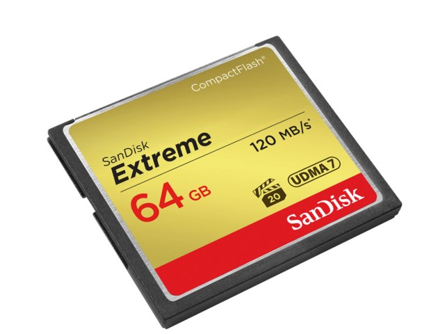 Sandisk Minneskort Compact Flash 64GB Extreme 120MB/s