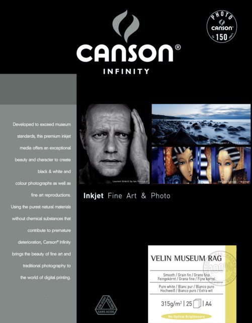 Canson Velin Museum Rag A4 315gr 25blad