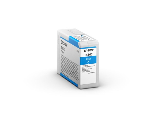 Epson Bläckpatron Ultrachrome HD cyan 80 ml T8502