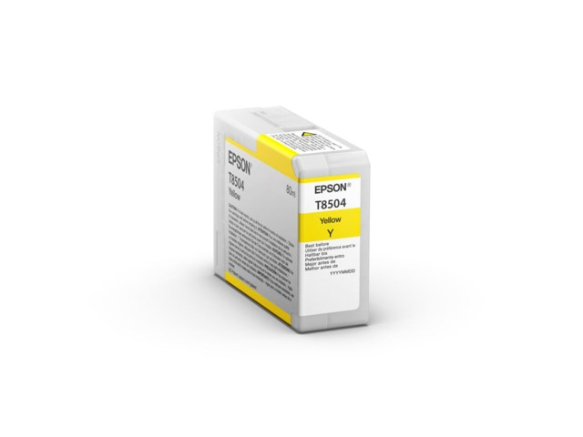 Epson Bläckpatron Ultrachrome HD gul 80 ml T8504