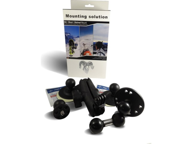 RAM Mounts Mellan Alpint - boot-Helmet-Ski RAM Mount kit -