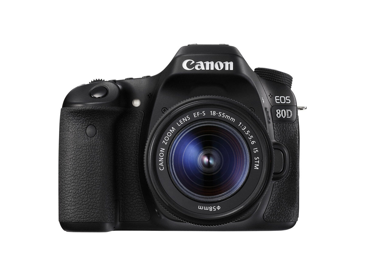 Canon EOS 80D med EF-S 18-55/3,5-5,6 IS STM