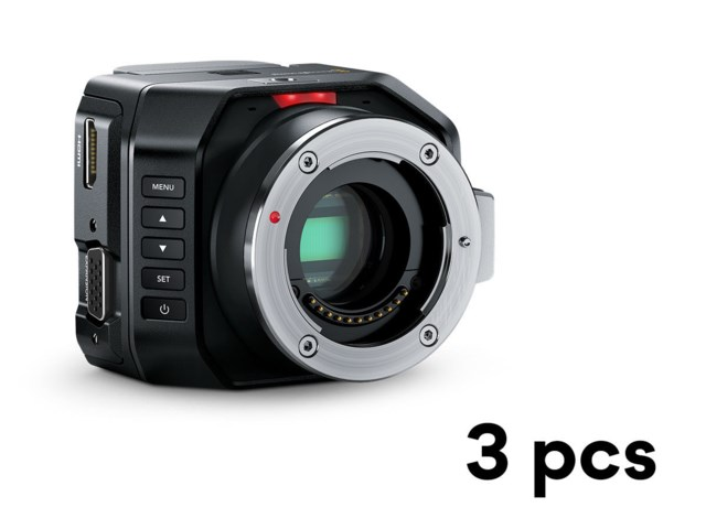 Blackmagic Design Micro Studio Camera 4K 3-pack