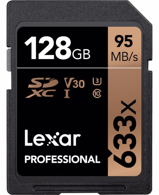 Lexar Minneskort Secure Digital 128GB SDXC 95MB/s 633X