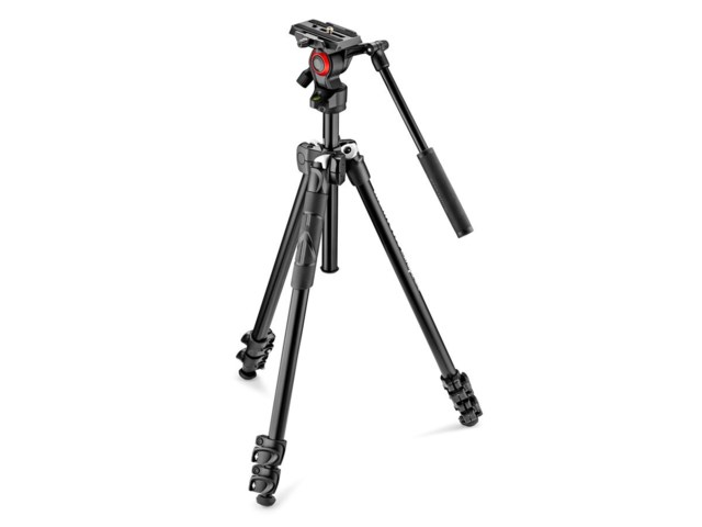 Manfrotto Videostativkit 290 Light + MVH400AH