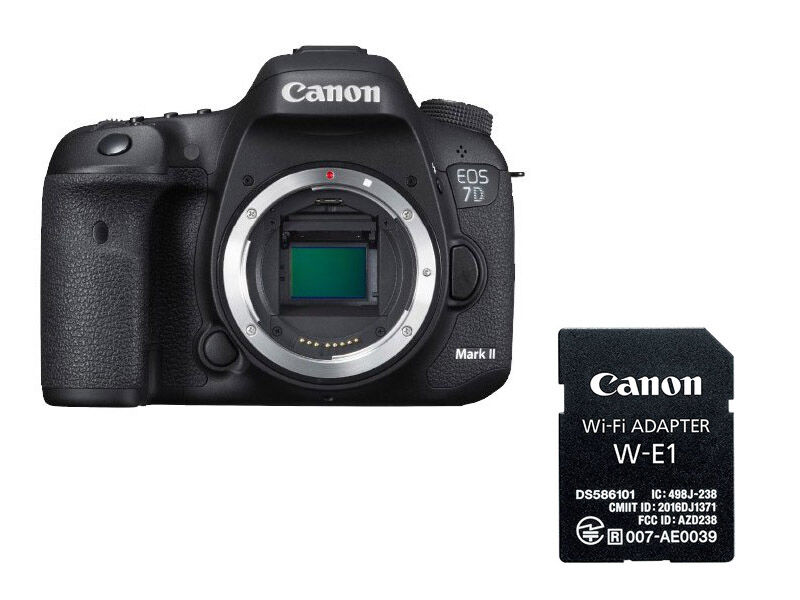 Canon EOS 7D Mark II kamerahus + WiFi-adapter W-E1