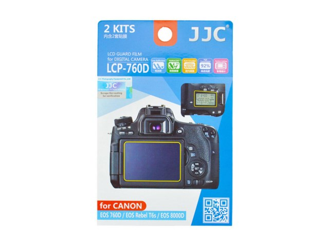 JJC LCD-skydd LCP-760D till Canon EOS 760D 2-pack
