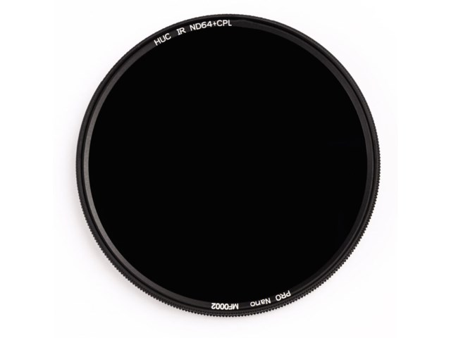 NiSi HUC Pro Nano IR ND64 ND-filter och C-PL 77mm