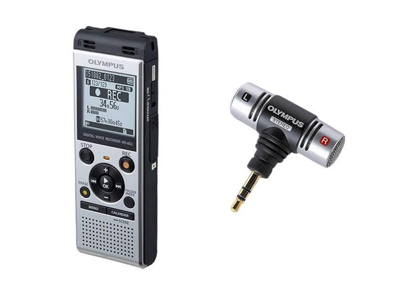 8e4228ab2f9 Olympus Ljudinspelare WS-852 silver + ME-51S mini stereo ...