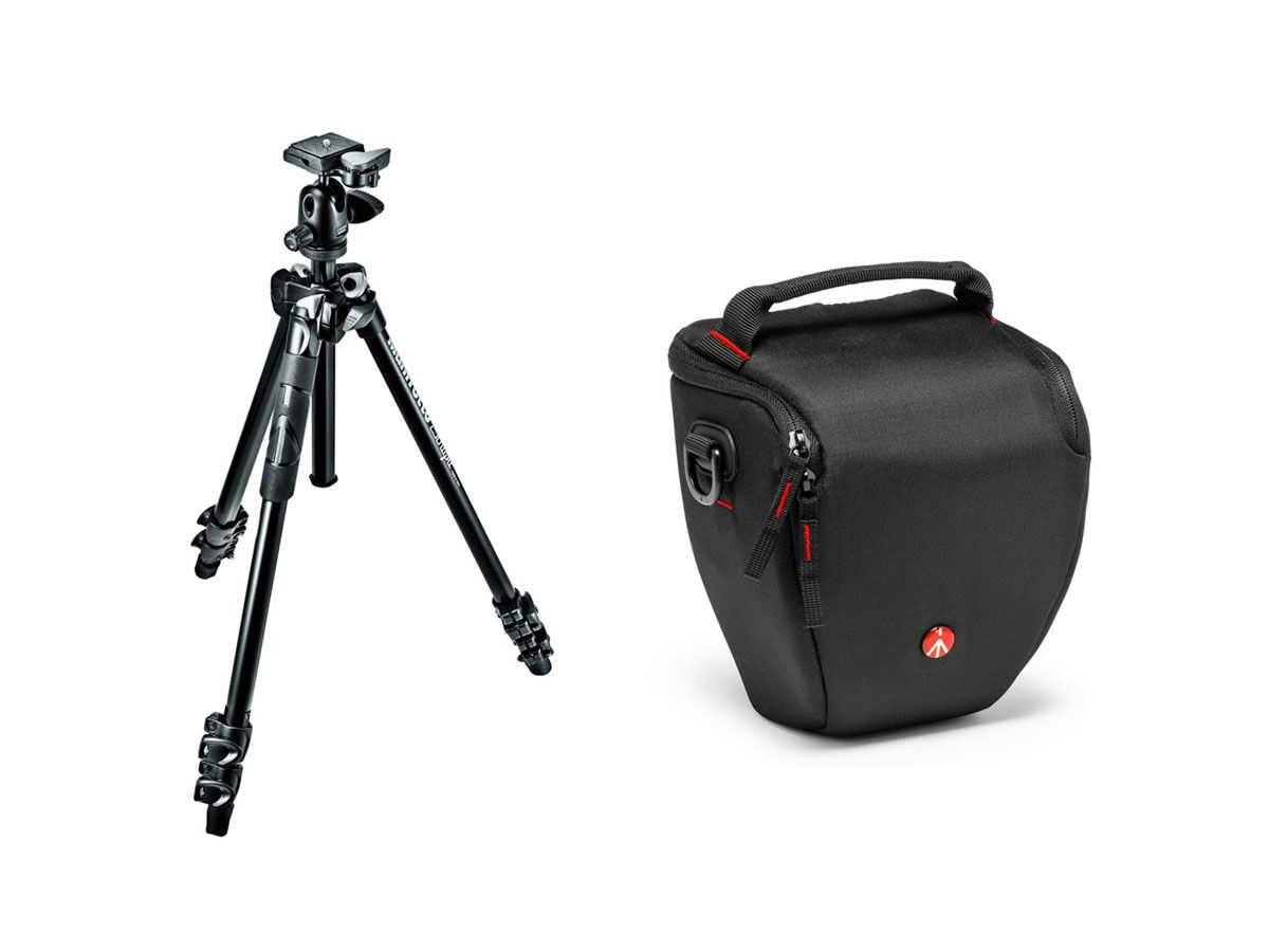 Manfrotto Stativkit 290 Light aluminium + 494RC2