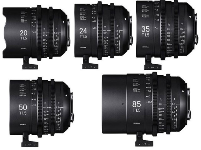 Sigma CINE Five Prime Lenses kit Canon EF-mount