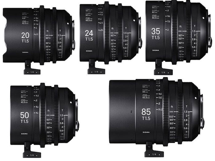Sigma CINE Five Prime Lenses kit PL-mount