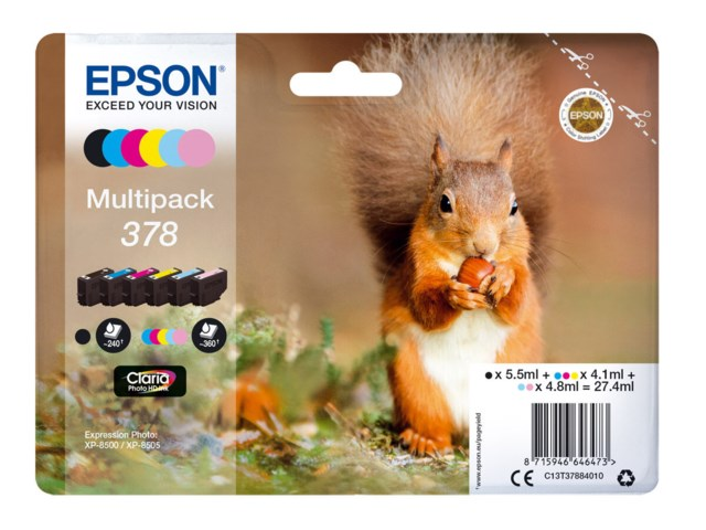 Epson Bläckpatron 378 Claria Photo HD multipack 6-pack