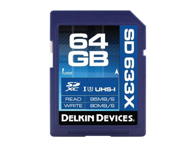 Delkin Devices Minneskort Secure Digital 64GB SDXC 95MB/s