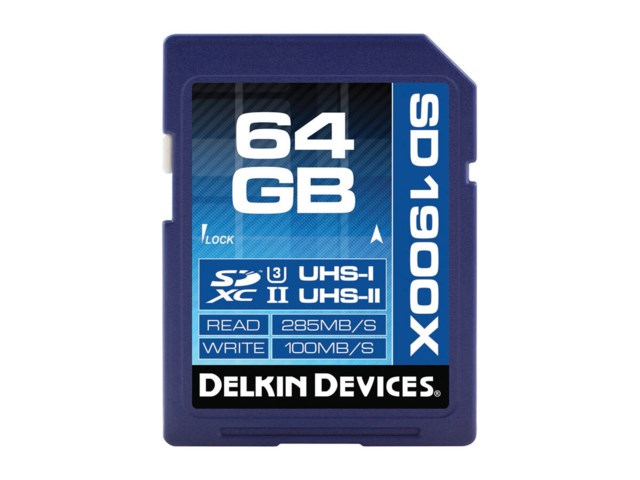 Delkin Devices Minneskort Secure Digital 64GB SDXC 285MB/s 1900X UHS-II U3 V60