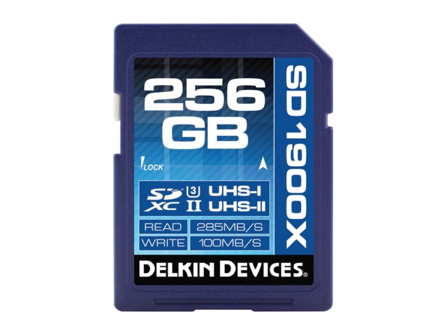 Delkin Devices Minneskort Secure Digital 256GB SDXC 285MB/s 1900X UHS-II U3 V60