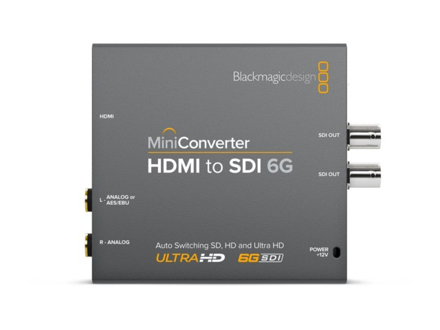 Blackmagic Design Mini konverter - HDMI till SDI 6G