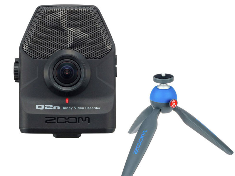 Zoom Q2n Handy Video Recorder + bordsstativ Pixi
