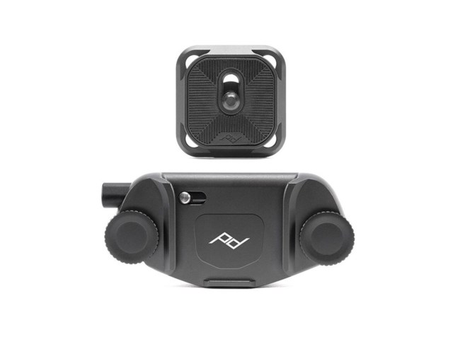 Peak Design Capture Camera Clip v3 svart med platta