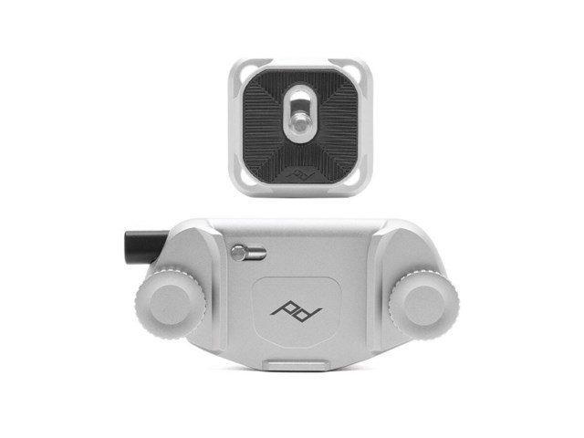 Peak Design Capture Camera Clip v3 silver med platta