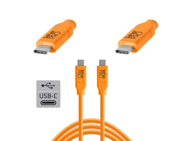 Tether Tools TetherPro kabel USB-C till USB-C 3 meter orange