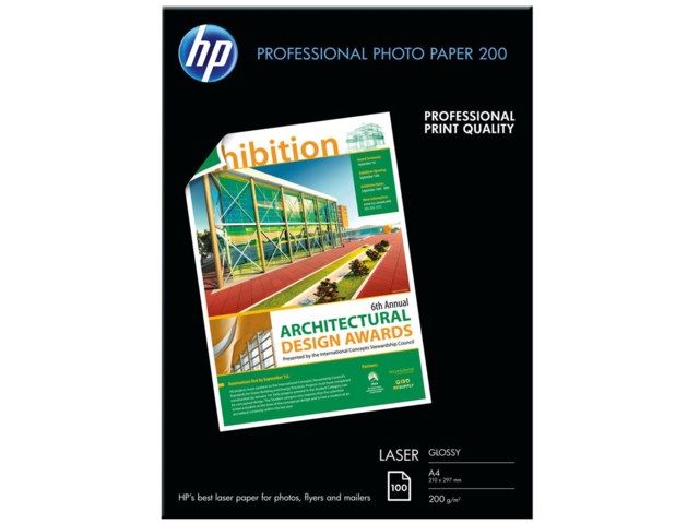 Hp Professional Glossy Laser Photo A4 200gr 100blad