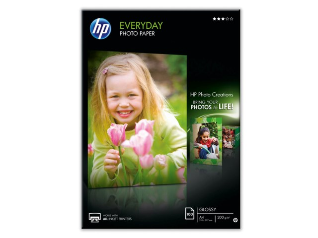 Hp Everyday Glossy A4 200gr 100blad