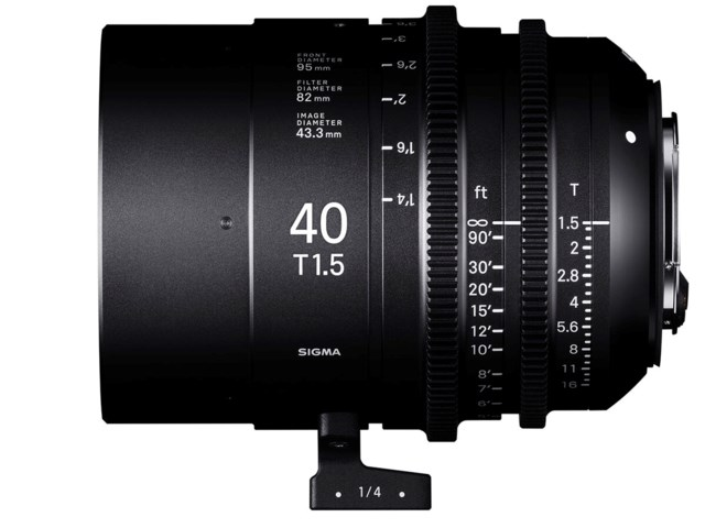Sigma CINE 40mm T1.5 FF PL-mount