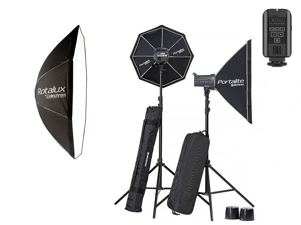 Elinchrom Blixtpaket D-Lite RX 4/4 Softbox To Go kit med