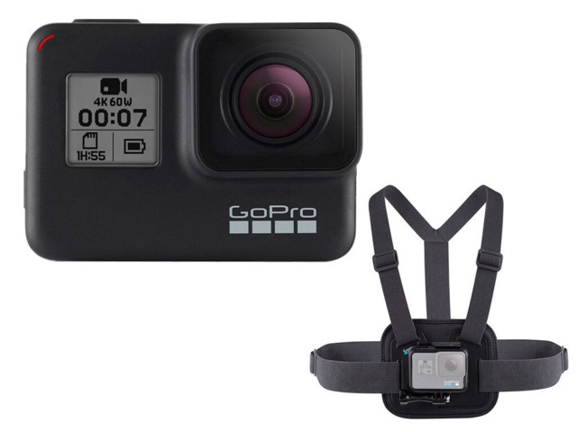 GoPro Hero7 Black och bröstsele Chesty