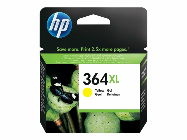 Hp 364XL Gul - 750sid - Deskjet 3070, 3520 Photosmart 5510, 5520, 6510, 6520, 6525, 7520