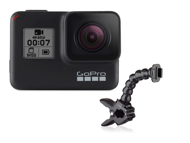 GoPro Hero 7 Black med Jaws Flex clamp