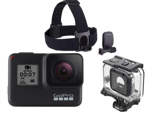 GoPro Hero 7 Black + Dykhus Super Suit + Head Strap + QuickClip