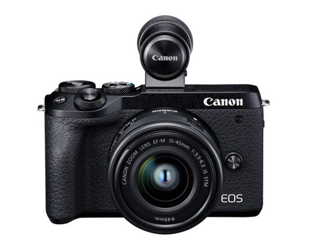 Canon EOS M6 MKII + EF-M 15-45mm f/3,5-6,3 IS STM + EVF DC2