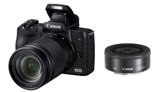 Canon EOS M50 svart + EF-M 18-150mm f/3,5-6,3 IS STM + EF-M 22mm f/2 STM
