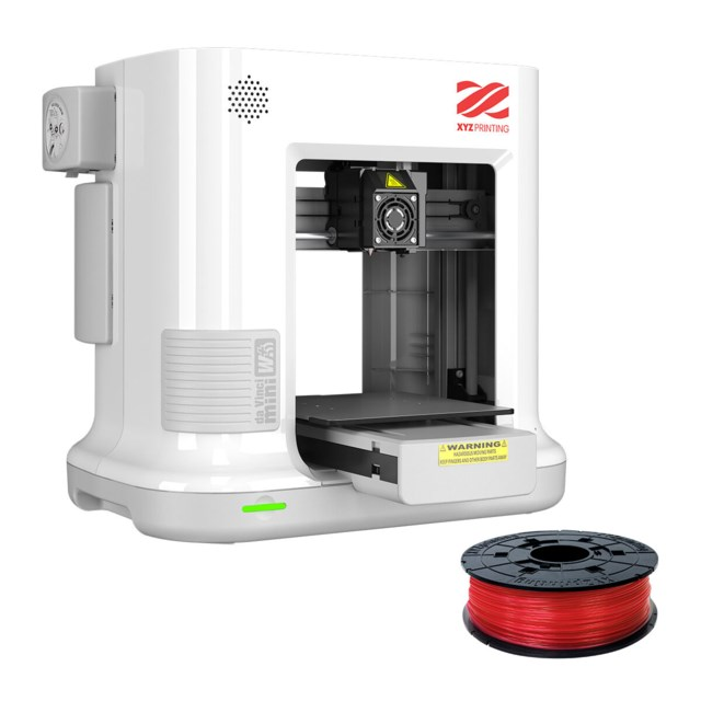 XYZ da Vinci Mini W+ vit inkl. PLA filament red