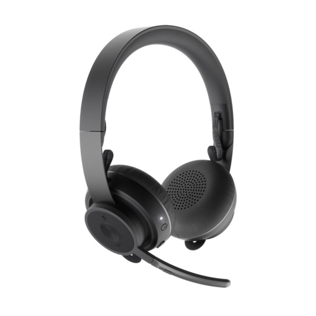 Logitech Zone Wireless Headset Blåtand - svart