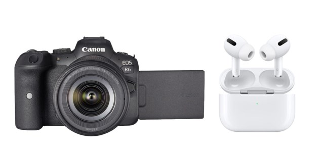 Canon EOS R6 + RF 24-105mm f/4-7,1 IS STM +AirPods Pro