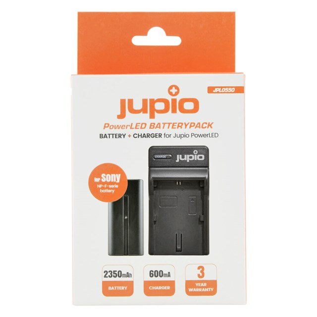 Jupio NP-F F550 Batteri + laddare, Sony