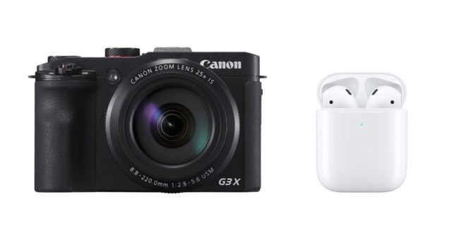 Canon PowerShot G3 X  + Airpods med laddningsetui (2019)