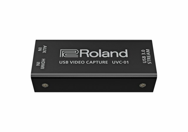 Roland UVC-01 HDMI streaming capture device with analog audio input