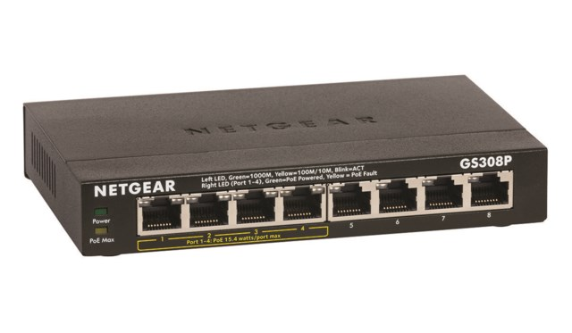 Netgear GS308P 8-Port Unmanaged Switch PoE