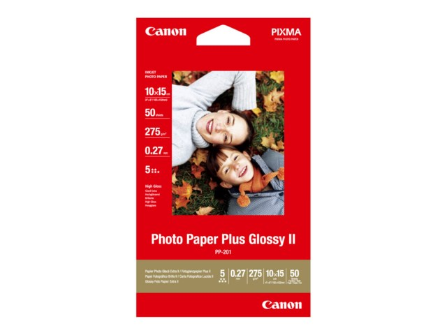 Canon PP-201 Plus Glossy II 10x15cm 275gr 50blad