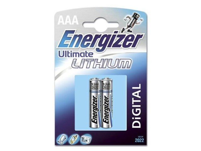 Energizer Batteri AAA Lithium 2-Pack