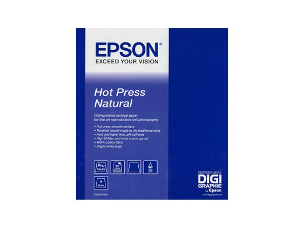 Epson Hot Press Natural A2 340gr 25blad
