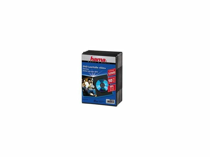 Hama DVD-box Slim svart / 10-pack