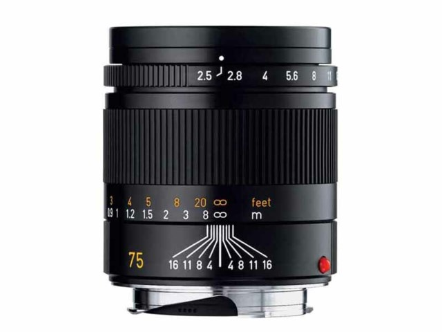 Leica Summarit-M 75mm f/2,4 svart